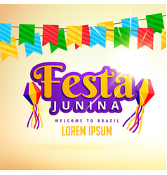 Festa junina holiday poster design vector