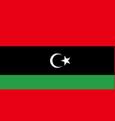 Flag of libya in national colors vector