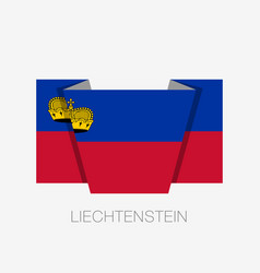flag of liechtenstein flat icon waving flag with vector image