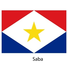 Flag of the country saba vector image