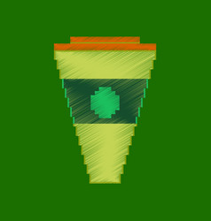 Flat shading style icon pixel glass of cola vector