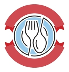 food service logo vector image vector image