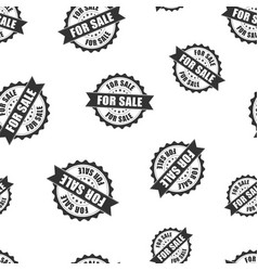 For sale rubber stamp seamless pattern background vector