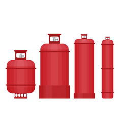 Gas tank set in flat style vector