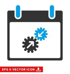 Gears Integration Calendar Day Eps Icon vector