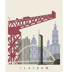 Glasgow skyline poster vector