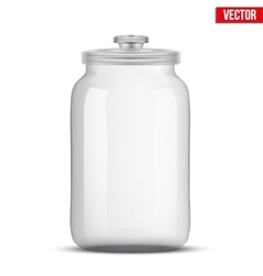 Glass Jars for products vector image