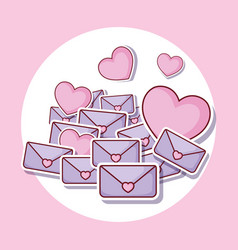 heart and love letters vector image