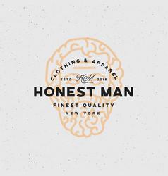 Honest man clothing company label vector