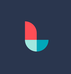 Letter l logo icon design template elements vector