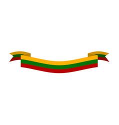 Lithuania flag ribbon isolated lithuanian ribbon vector