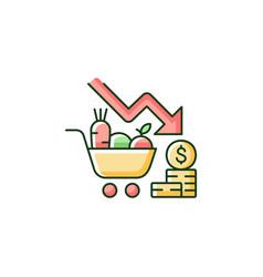 Marketing risks rgb color icon vector