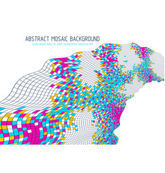 mosaic art abstract background 3d dimensional vector image