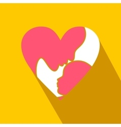 Mother Day heart flat icon vector