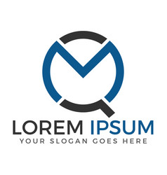 mq letter logo design vector image