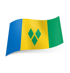 National flag of saint vincent and the grenadines vector