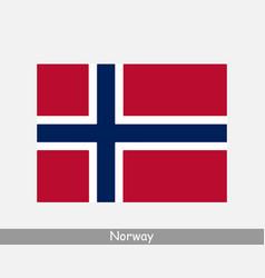 norway norwegian national country flag banner vector image