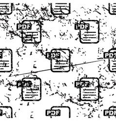 PDF document pattern grunge monochrome vector