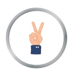 Peace icon in cartoon style isolated on white vector