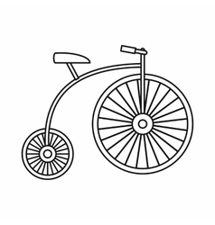 Penny-farthing icon outline style vector