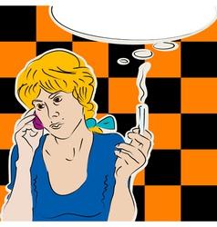 pop art style vector image