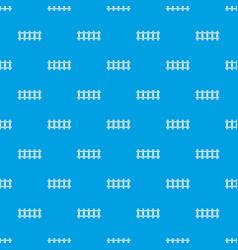 railway pattern seamless blue vector image