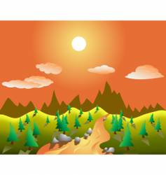 real landscape vector image