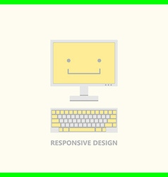 Responsive design computer fun vector