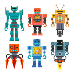 robot and transformers colourful toys for kids vector image
