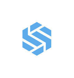s initial logo vector image