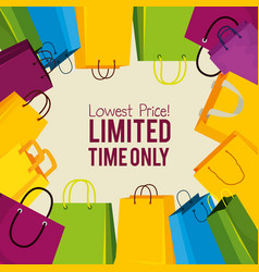 sale bags to special online price vector image