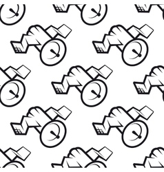 Seamless pattern of communications satellite icon vector image