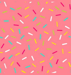 Seamless pattern pink donut glaze with many vector