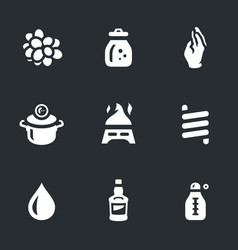 set of moonshine boiling icons vector image