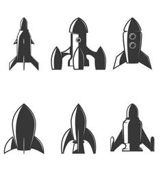 set rockets icons design element for logo vector image