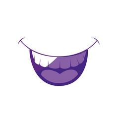 smile fun cartoon vector image