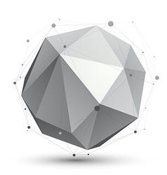 Spatial monochrome digital eps8 object dimensional vector