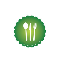 Spoon fork food logo vector