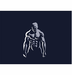 sport sporty and athletic man vector image
