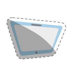 tablet technology cut line vector image vector image
