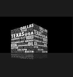 Texas words cloud vector