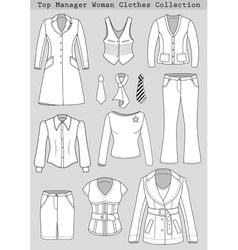 Top manager woman clothes set vector image
