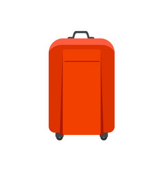 travel bag icon flat style vector image