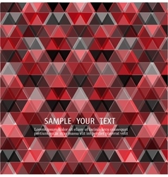 Triangles red background design vector image