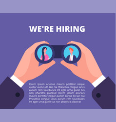 we are hiring concept businessman recruiter vector image