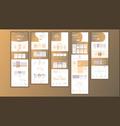 Website page business agency web page vector