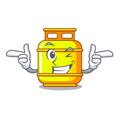 Wink gas tank operating the character cooking vector