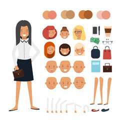 Woman character constructor vector
