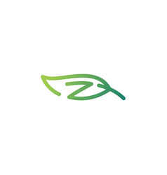 z letter leaf logo icon download vector image