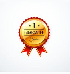 1 year guarantee gold label vector image